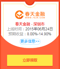 P2P投资福利:春天金融首投5000元,获利194.71元